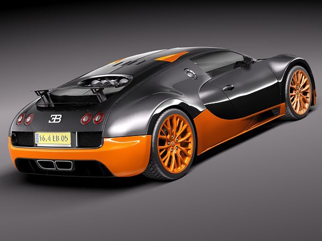 bugatti veyron super sport 2012 3d model 3d model max obj 3ds fbx c4d lwo lw lws. Black Bedroom Furniture Sets. Home Design Ideas