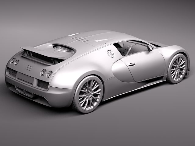 bugatti veyron super sport 2012 3d model 3d model max. Black Bedroom Furniture Sets. Home Design Ideas