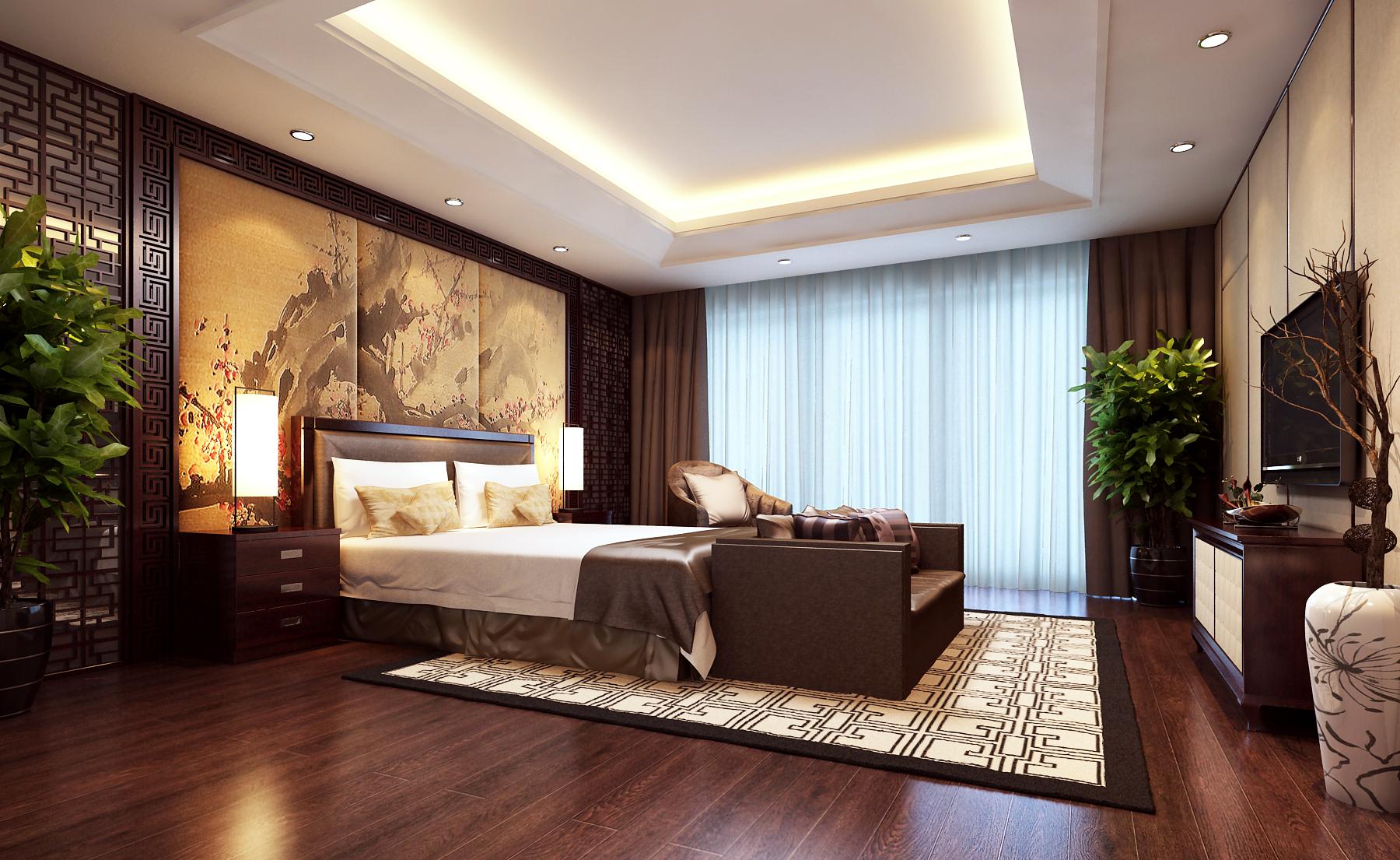 Modern Brown Bedroom 3D Model MAX | CGTrader.com on New Model Bedroom Design  id=56270
