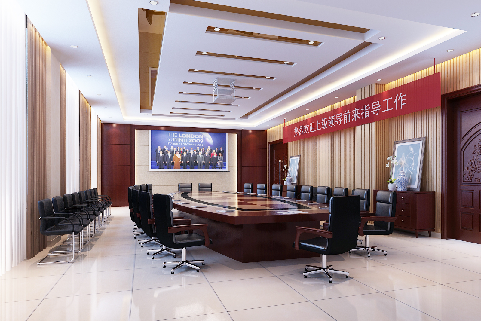 Office meeting room 3d model max for Office design 3d max