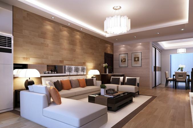 Living Room Model 3d model modern living room architectural   cgtrader
