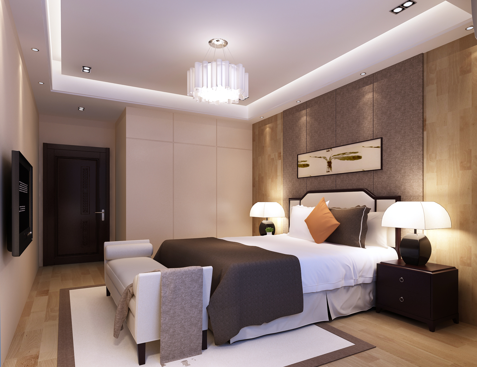 Bedroom Interior Scene For 3ds Max