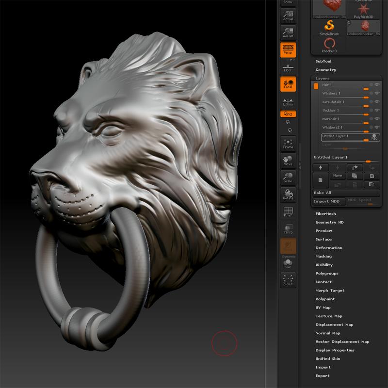 & Lion Head Door Knocker 3D model   CGTrader pezcame.com