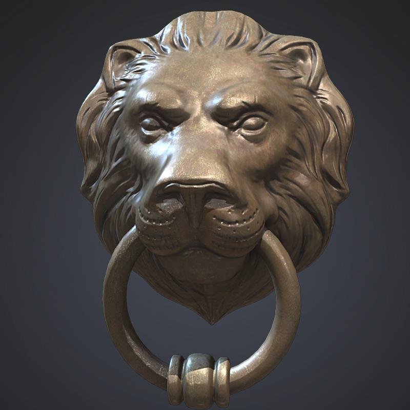 - Large lion head door knocker ...