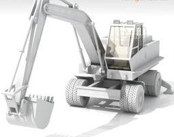 Excavator Bres500 with wheels 3D Model