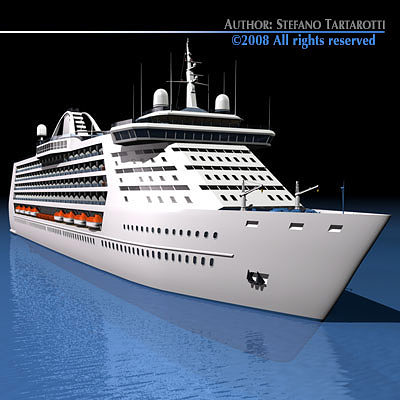 Cruise Ship 3D Model 3D Model OBJ 3DS FBX C4D DXF DAE