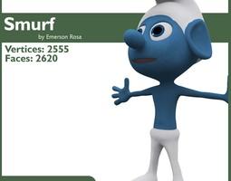 Smurf Rigged 3D Model