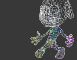 Smurf Rigged 3D Model