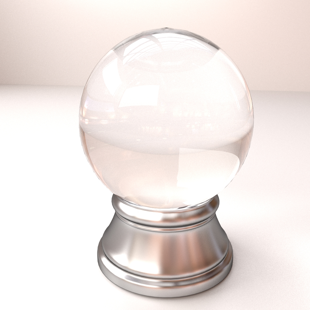 Crystal Ball 3D Model .3ds .fbx .blend .dae