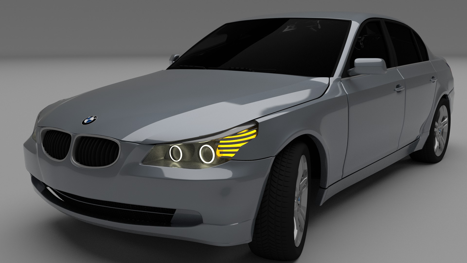 bmw e60 5 series 3d model blend dae mtl. Black Bedroom Furniture Sets. Home Design Ideas