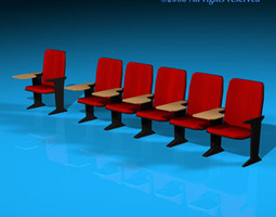 3d model lecture hall chairs