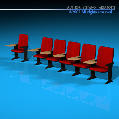 Lecture hall chairs3D model