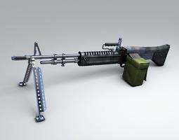 M60 Machine gun Hi-Res 3D Model