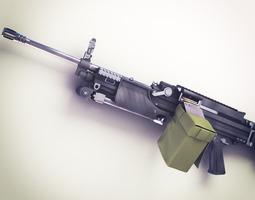 MG4 Machine Gun Hi-Res 3D Model