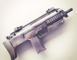 MP7 Submachine gun Hi-Res 3D Model