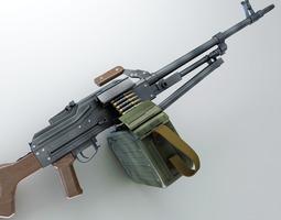 pk machine gun hi-res 3d model max obj fbx lwo lw lws ma mb