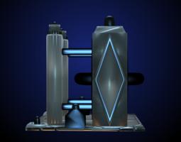 Sci-Fi Structure II 3D Model