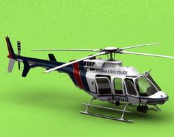 animated bell 407 virginia state police 3d model
