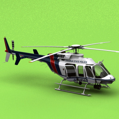 Bell 407 Virginia State Police3D model