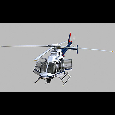 Bell 407 Virginia State Police 3d Model Animated Max 3ds