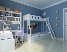 3D model Blue Children Bedroom