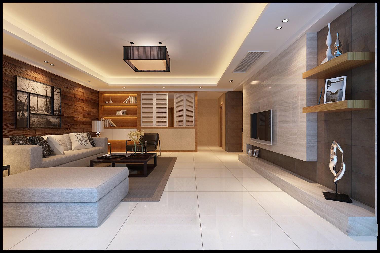 Modern living room fully furnished 3d model max for Model interior design living room