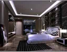 Photorealistic Dark Living Room 3D model