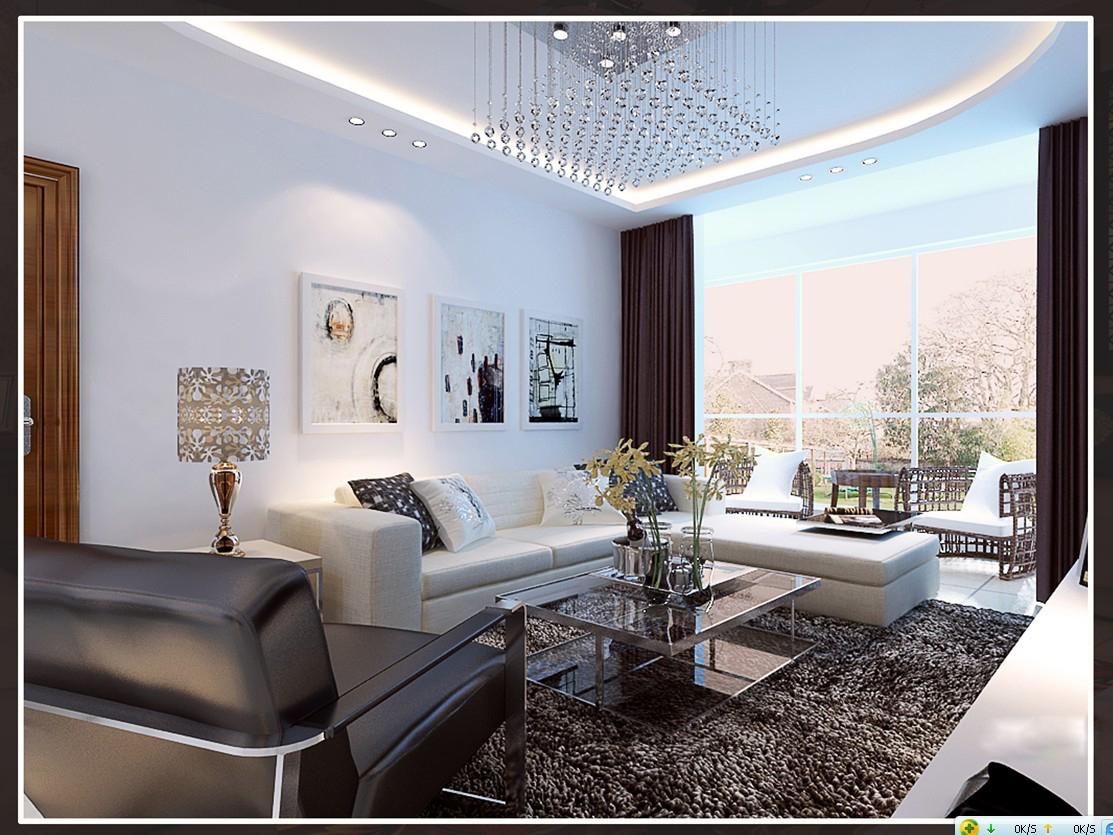 Modern living room with fur carpet 3d model max - Modern carpets for living room ...