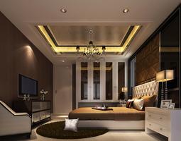 Cozy Bedroom warm 3D model