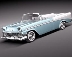 Chevrolet Bel Air 1956 Convertible 3D Model