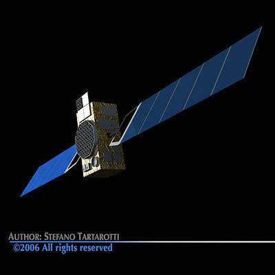 galileo satellite 3d model obj mtl 3ds c4d dxf 1