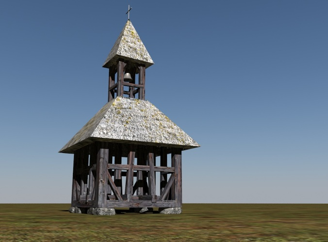 historic bell tower3D model