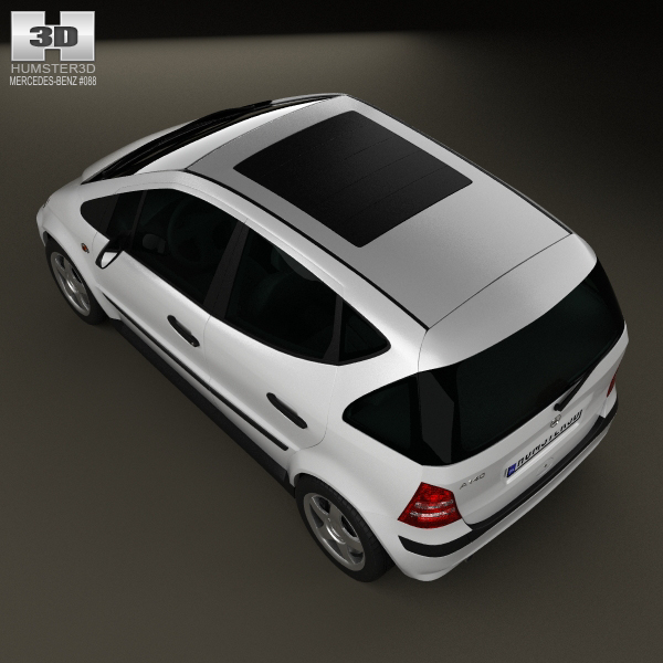 Mercedes-Benz A-class W168 1997 3D Model MAX OBJ 3DS FBX