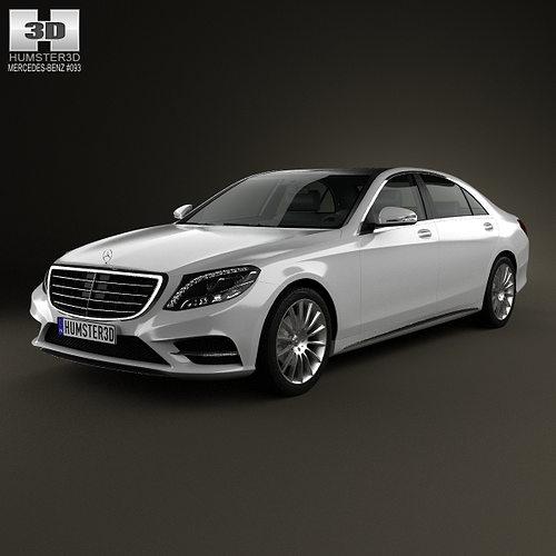 3d model mercedes benz s class w222 2014 cgtrader for Mercedes benz 2014 models
