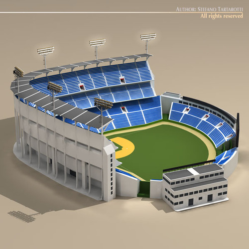Stadium Lights C4d: Baseball Stadium 3D Model .obj .3ds .c4d .dxf- CGTrader.com