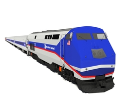 3D model metro-north train