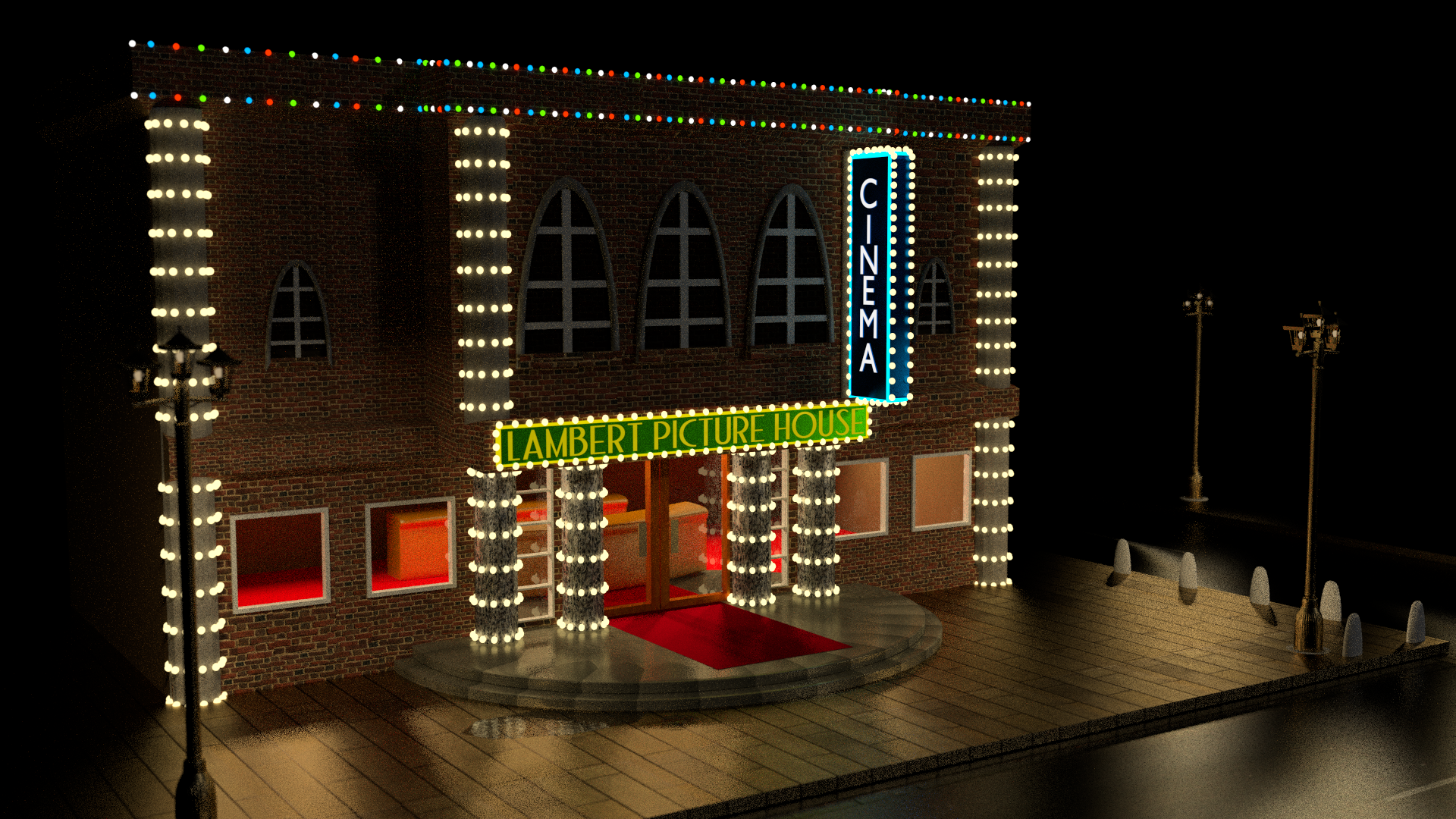 Concept theater for the dead run free 3d model 3ds fbx stl for Theatre model