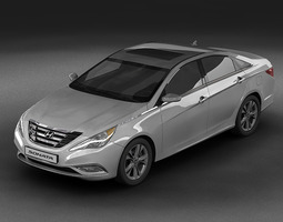 3d model 2011 hyundai sonata