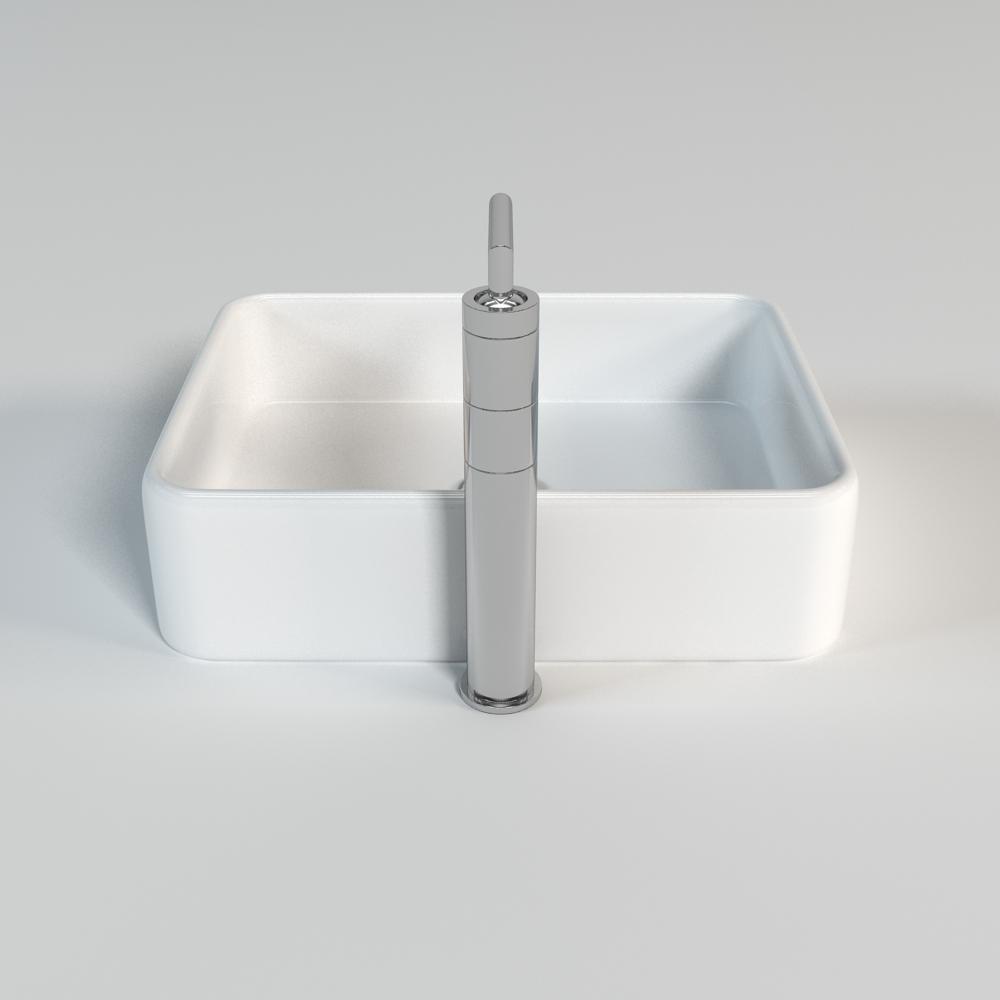 Sink 002 3d model max obj fbx for Sketchup bathroom sink