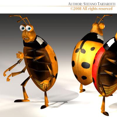 Ladybug cartoon3D model