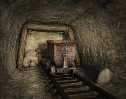3D model Low poly mine
