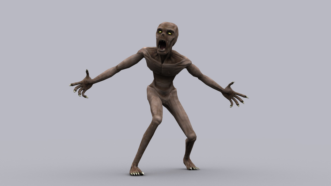 Ghoul Game Ready Animated Model 3d Model Game Ready