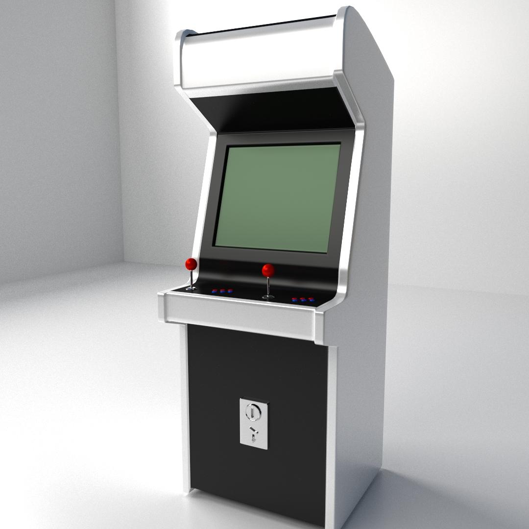 Arcade Machine 3d Model 3ds Fbx Blend Dae Cgtrader Com