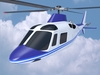 Agusta aw109 civilian helicopter 3D Model