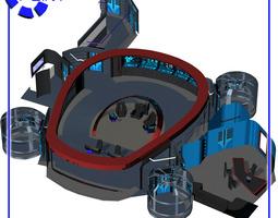 3d model rigged starship bridge 8 for poser