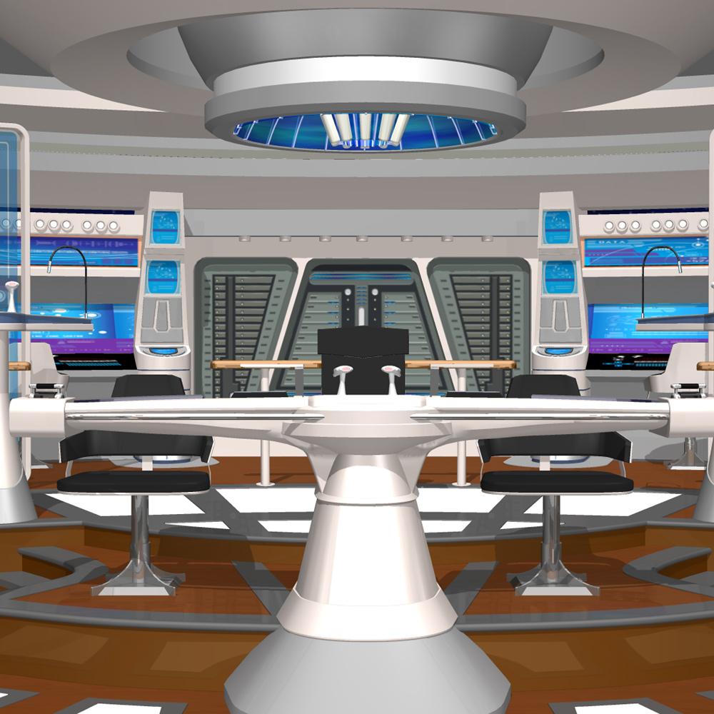 Starship Bridge Xi For Poser 3d Model Rigged Pz3 Pp2
