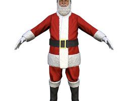 3D asset Santa Claus