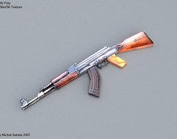 AK-47 low-poly 3D asset
