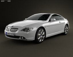 BMW 6 Series E63 coupe 2004 3D Model
