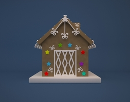 gingerbread house 3d print model